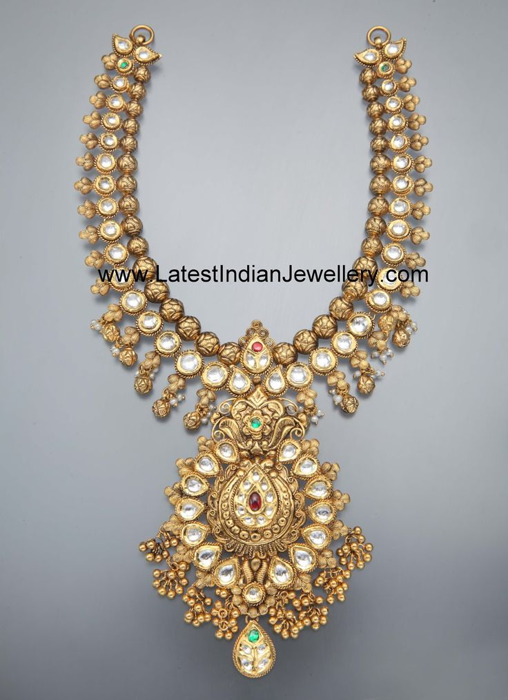 Heavy Antique Kundan Necklace. Approximate weight 110gms | Latest Indian Jewellery Designs