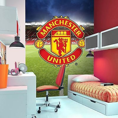 MANCHESTER UNITED FC WALLPAPER WALL MURAL NEW MAN UTD OFFICIAL