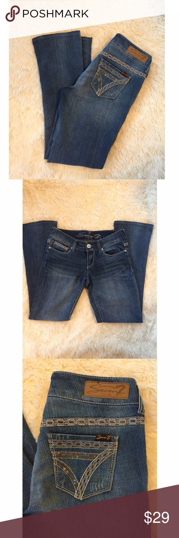 Seven7 Jeans Rocker Slim Jean Very good used condition. 8 inch rise. 29 inch inseam Seven7 Jeans Boot Cut