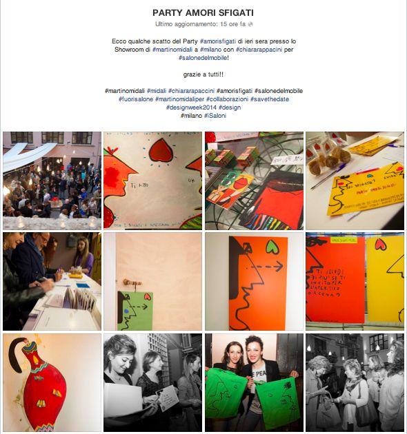 Ecco qualche scatto del Party #amorisfigati di ieri sera presso lo Showroom di #martinomidali a #milano con #chiararappacini per #salonedelmobile!  grazie a tutti!!  #martinomidali #midali #chiararapaccini #amorisfigati #salonedelmobile #fuorisalone #martinomidaliper #collaborazioni #savethedate #designweek2014 #design #milano #iSaloni  Tutte le foto le trovate su FACEBOOK