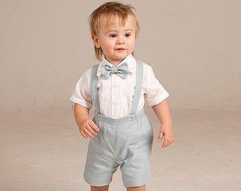 Costume de porteur de lanneau bébé garçon baptême par Graccia