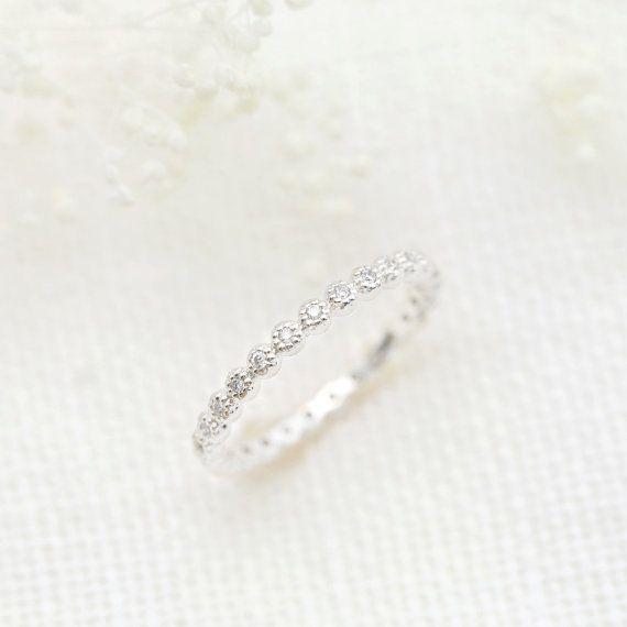 14 k 18k Platin 950 Diamant-Ewigkeit-Band von EnveroJewelry auf Etsy