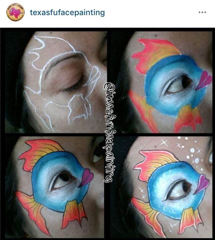 Awesome fish face painting. Paty De Leon