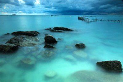 one of beach in bangka belitung
