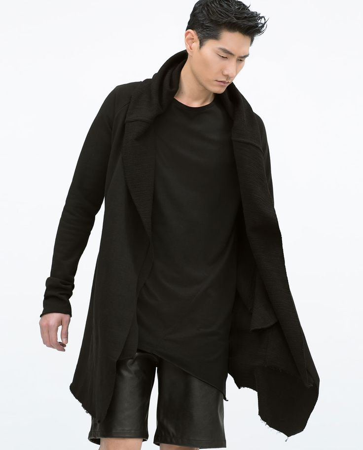 PLUSH CAPE-Sweatshirts U0026 Hoodies-MAN | ZARA United States | Dark Style | Pinterest | Zara Man ...