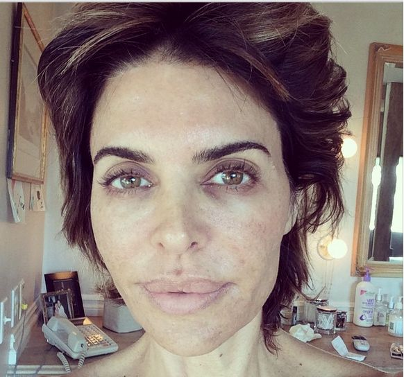 Can you tell she's 51?  Lissa Rinna without make-up one morning said she follows a compassionate diet that cares for the outcome of animals much like her support for human rights movements.  http://vegetarianstar.com/2014/11/04/lisa-rinna-goes-makeup-free-and-vegan-for-wake-up-call-challenge/  Vegan recipes at http://pinterest.com/myqute/foodie