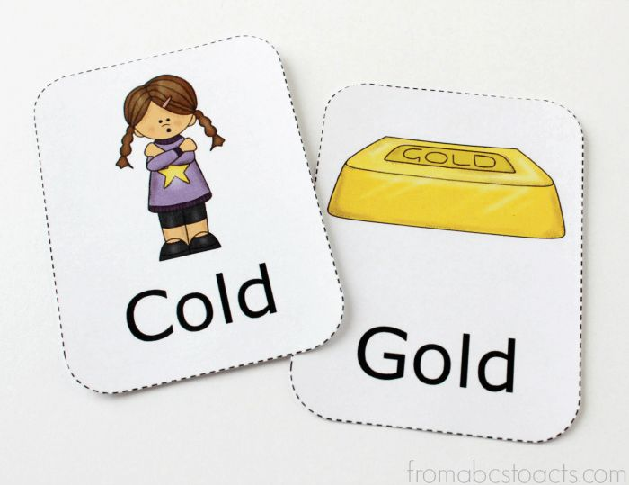 Winter Themed Rhyming Words for Kids