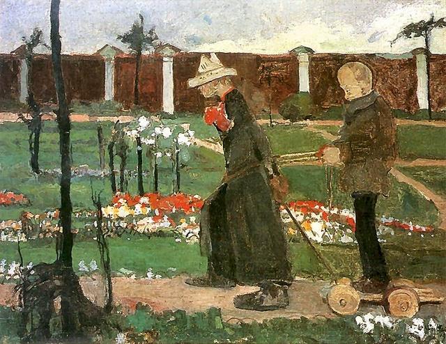 Wojtkiewicz, Witold (1879-1909) - 1906 Behind the Wall (Museum of Art, Lodz, Poland) by RasMarley, via Flickr