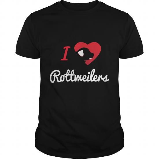 If you are a lover for Rottweilers or your friend. This will be a great gift for you or your friend: I Love Rottweilers Tee Shirts T-Shirts