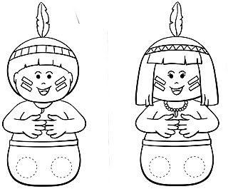 Dia do índio - Atividades e desenhos para pintar - colorir - imprimir índio…