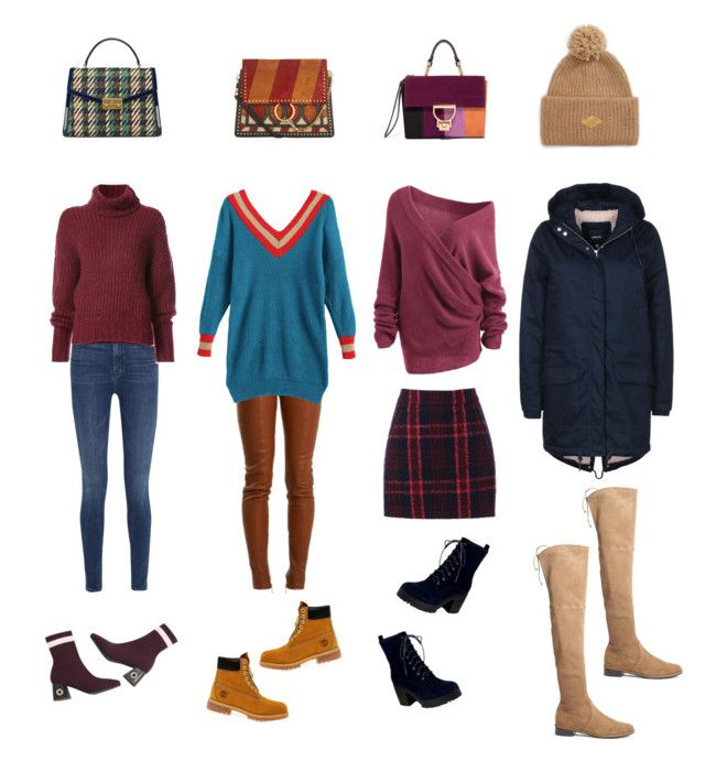 """Winter"" by natalie-chistyakova on Polyvore featuring мода, J Brand, Balmain, Oasis, BY. Bonnie Young, Timberland, Chloé, Tory Burch, Wemoto и rag & bone"
