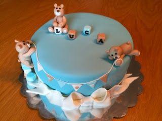 Pojalle ristiäiskakku nalleilla / Teddy Bear cake