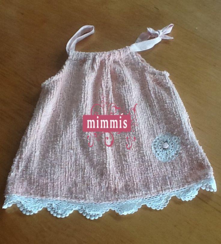 Vintage Chenille Little girls dress