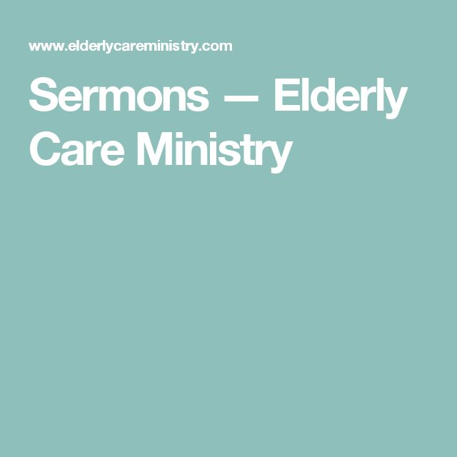 ministry to the elderly Twenty-five ways to help the homebound and their caregivers by donna karabin and nadia koblosh  the church's ministry with the elderly.