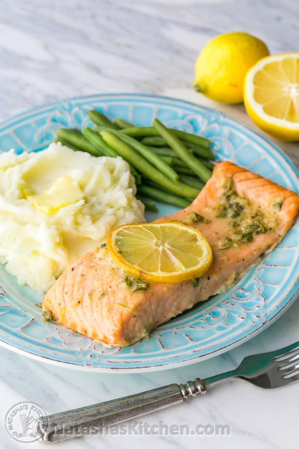 Baked Salmon with Dijon and Garlic