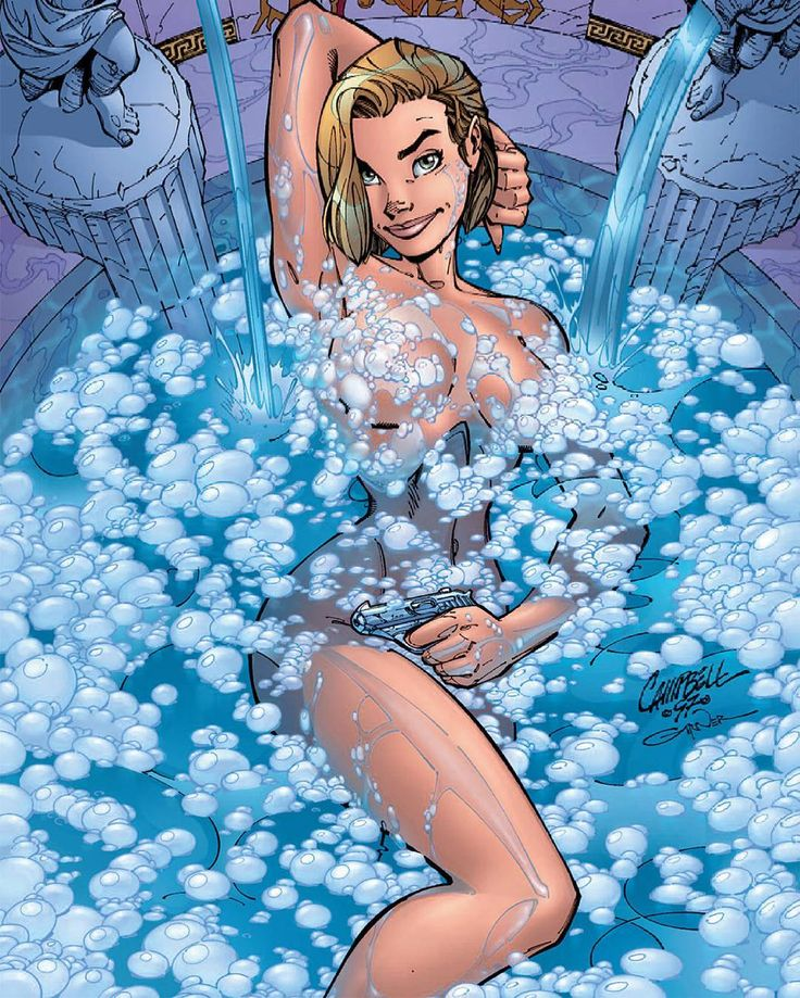 Danger Girl 2 Cover. #AbbeyChase #BathTime #BathTimeFun #GirlWithAGun #HotBlonde #Blonde #Curves #DangerGirl #ComicBooks #Babes #JScottCampbell #JScottCampbellArt #AndyHartnell #BoldandBeautiful #HotChicks #DangerousCurves #DangerousWoman #SecretAgents #LadyInTheWater #CharliesAngels #BritishSecretService #ImageComics #SecretService #IDWPublishing #IDW #IDWComics #Comics #ImageComics #Cliffhanger #Wildstorm #ComicsDune