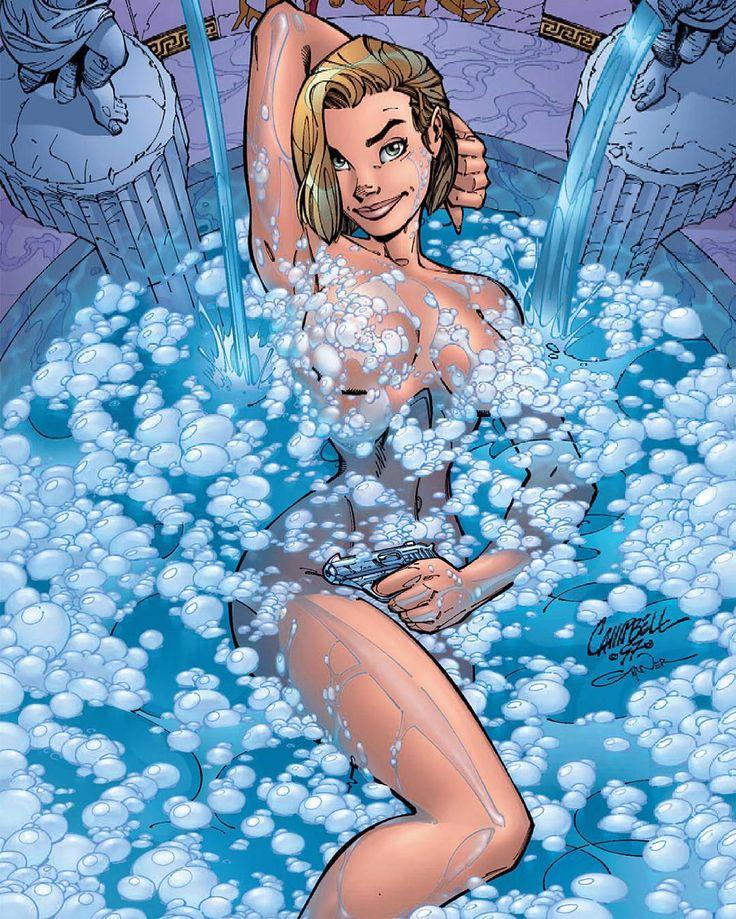 Danger Girl 2 Cover. #AbbeyChase #BathTime #BathTimeFun #GirlWithAGun #HotBlonde #Blonde #Curves #DangerGirl #ComicBooks #Babes #JScottCampbell #JScottCampbellArt #AndyHartnell #BoldandBeautiful #HotChicks #DangerousCurves #DangerousWoman #SecretAgents #LadyInTheWater #CharliesAngels #BritishSecretService #ImageComics #SecretService #IDWPublishing #IDW #IDWComics #Comics #ImageComics #Cliffhanger #Wildstorm #ComicsDune