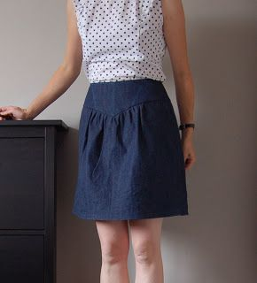 not so haute couture: A Jeans Crescent Skirt