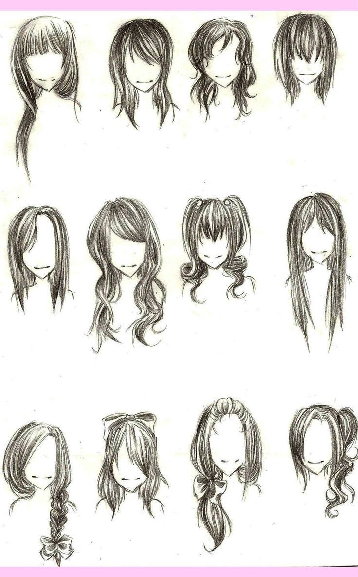 Drawing Hairstyles For Your Characters Haare Zeichnen