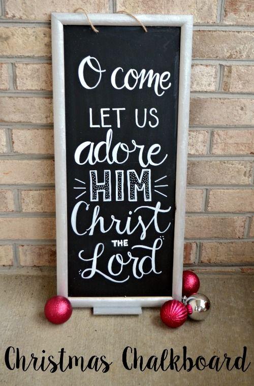 Christmas Chalkboard Sign #shopconsumercrafts @consumercrafts #ad