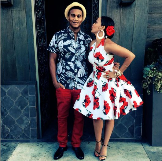 Cute couple Corey Hardrict and Tia Mowry Hardrict attended a Havana Nights theme event.