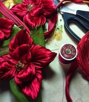Silk shibori ribbon bu Shibori Girl