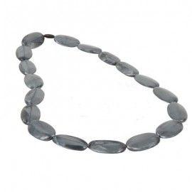 MummaBubba Jewellery Teething Necklace - Alice - Silver  Swirl