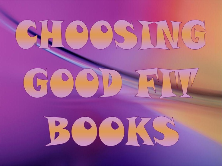 Choosing Good Fit Books powerpoint used on the smartboard to help students choose appropriate books at reading time