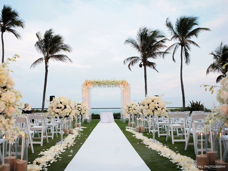 breakers palm beach, fl - ocean terrace wedding