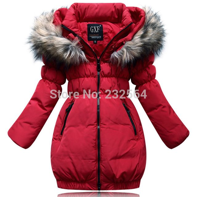 High quality kids clothing 2014 cold winter down jacket for children Girls Slim long Fashion warm fur collar down jacket US $70.00 /piece Specifics Outerwear Type	Down & Parkas Item Type	Outerwear & Coats Clothing Length	X-Long Filling	White duck down Brand Name	OMG Closure Type	Zipper Fabric Type	Twill Down Content	80% Collar	Hooded Decoration	Splicing, pocket Pattern Type	Solid Sleeve Style	Regular Gender	Girls Style	Fashion   Click to Buy :http://goo.gl/t9O329