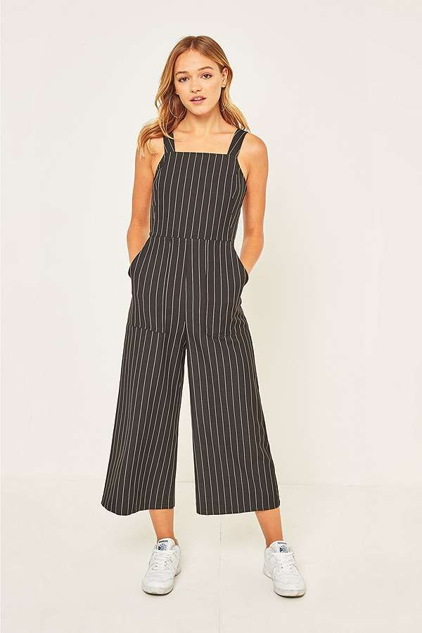 Urban Outfitters Navy Bib Jumpsuit