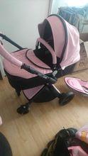 Online-Shop 3 in 1 hohe qualität EU baby auto Aulon recounts kinderwagen leder zwei-wege-stoßdämpfer marke baby 2 in 1 | Aliexpress Mobil