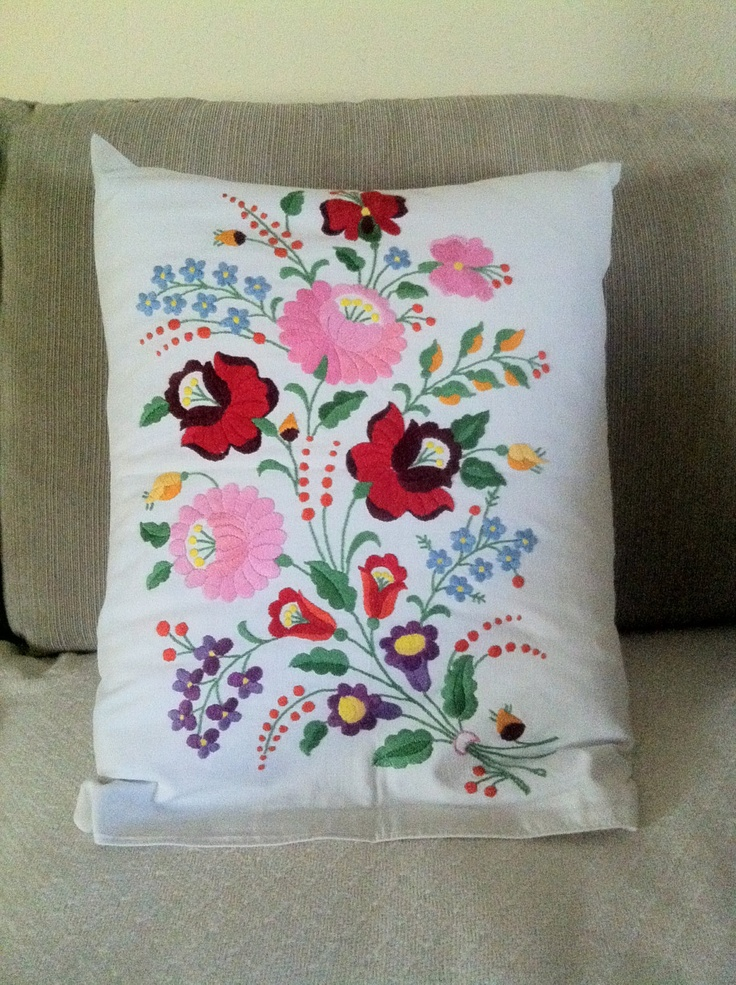 Vintage Hungarian folk art pillows