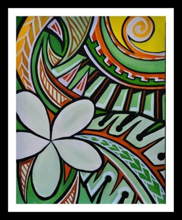 Awesome Polynesian Art. Love the Colours!!