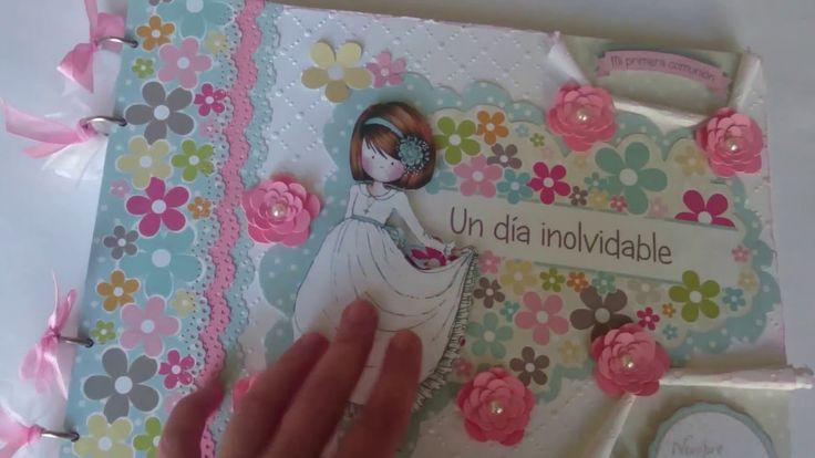 Libro de firmas comunión niña scrapbooking