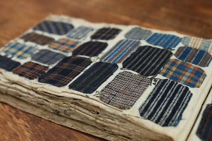 antique japanese textile swatch book
