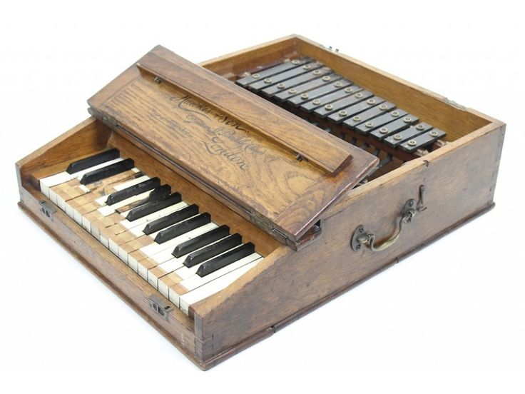 Little portable piano and xylophone.