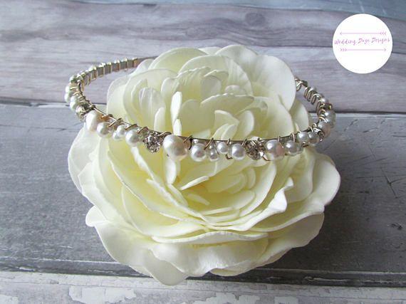 Bridal Headband, Freshwater Pearl Hairpiece, Wedding Hair Accessory, Bridal Hairband, Bridesmaid Hairband, Pearl Headband, Bride Tiara