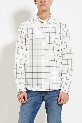 Grid-Patterned Shirt   21 MEN - 2000150283