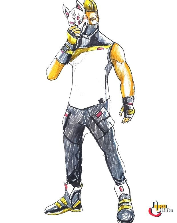 How To Draw Drift Fully Upgraded Fortnite Learn How To Draw Drift Fully Upgraded From Fortnite Step By Step Beginn Fortnite Personajes Geroglificos Dibujos