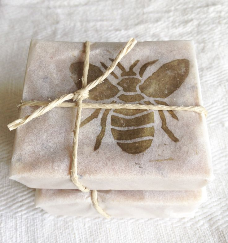 Honey soap homemade wrapping