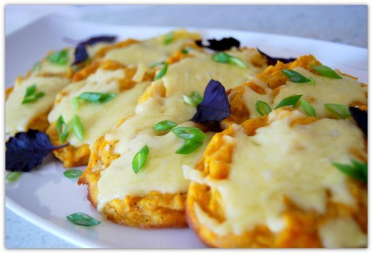 Тыквенные оладьи с сыром.