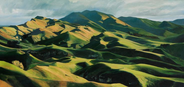 'Mt Erin' By Freeman White 2100 x 1020 Oil Painting - New Zealand Landscape