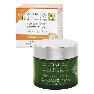 Andalou Naturals Brightening Glycolic Mask has AHA, organic pumpkin and Manuka honey. Organic skincare that exfoliates and revitalizes skin. At Hello Charlie!