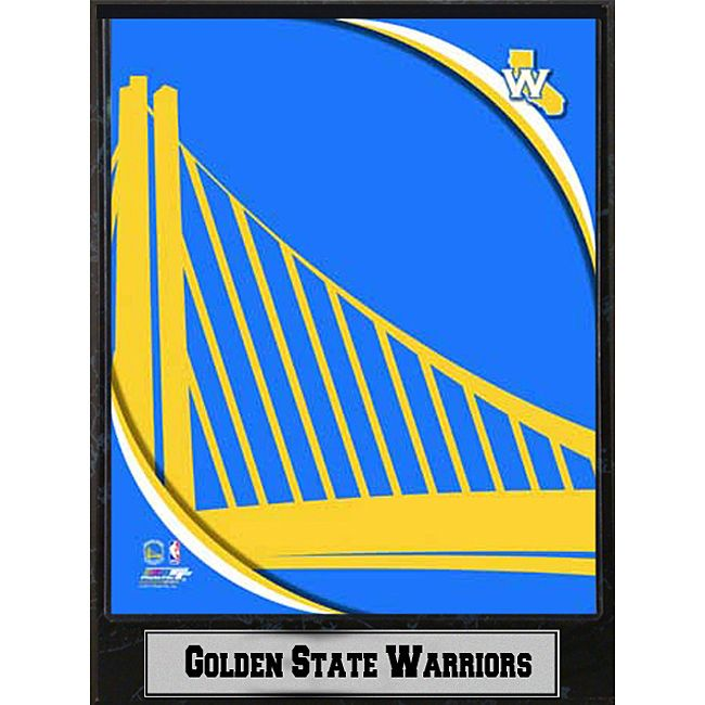Show your team pride with this logo plaque commemorating the Golden State Warriors. This stylish black plaque measures 9 inches high and comes ready to hang. Team: Golden State Warriors Ready to hang