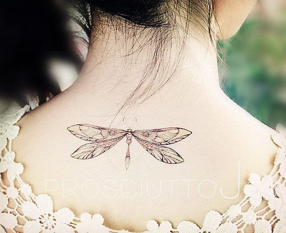3pcs set temporary tattoo dragonfly sticker stickers big large colorful fake body art pattern tattoo darning needle insect ink tiny tattoo