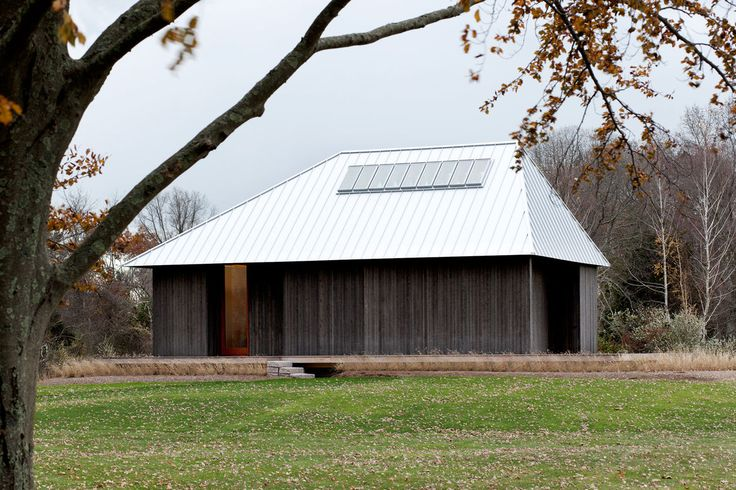Artist's studio in Connecticut with a hip roof