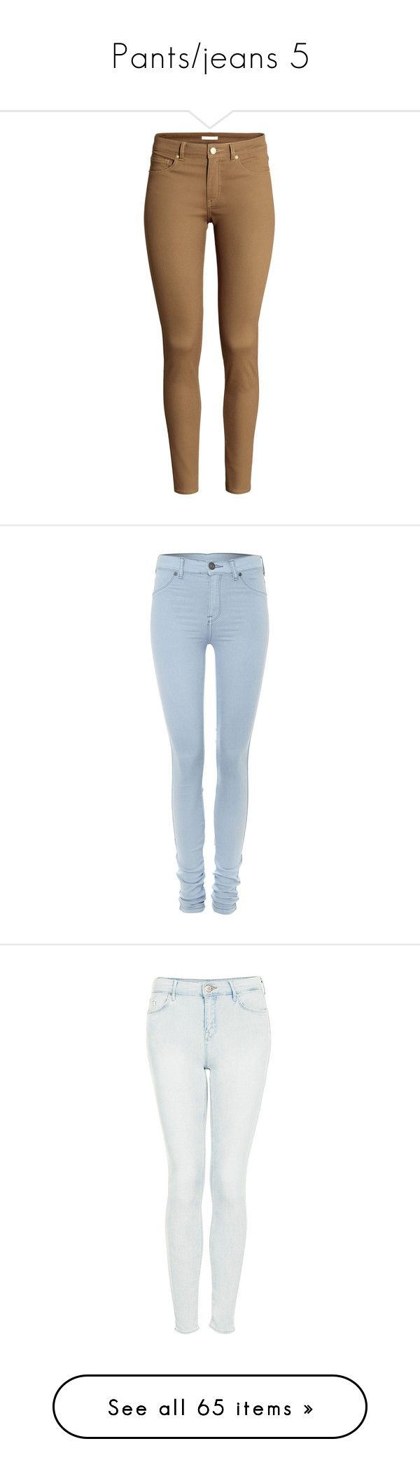 """""""Pants/jeans 5"""" by musicmelody1 on Polyvore featuring pants, jeans, bottoms, trousers, pantalon, dark beige, h&m trousers, 5 pocket pants, brown trousers and brown pants"""