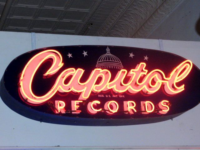 Original Capital Records neon sign