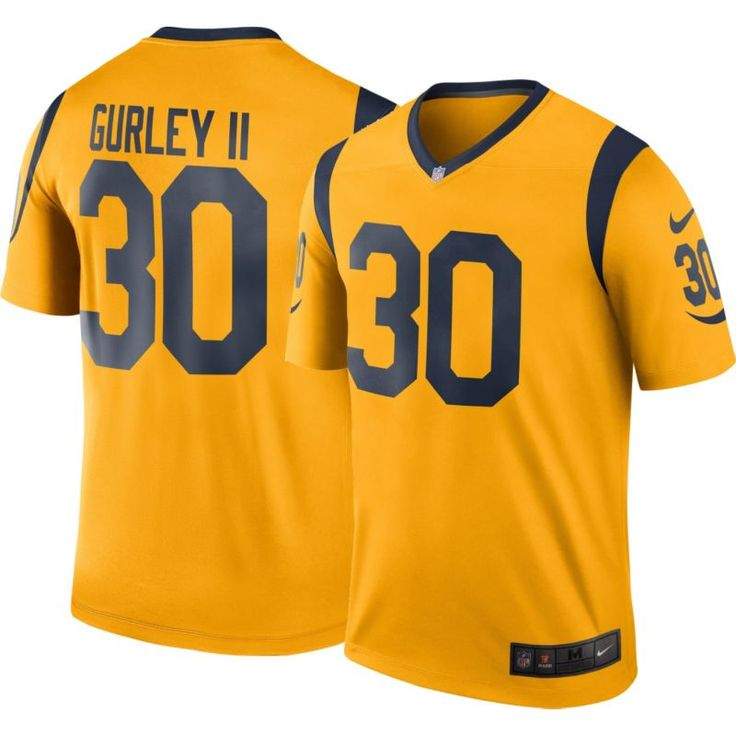 Nike Men's Color Rush 2016 Los Angeles Todd Gurley #30 Legend Game Jersey, Size: Medium, Team